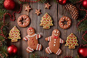 Обои Новый год Печенье