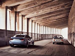 Фотографии BMW Двое Вид сзади BMW 2002 Hommage Concept 02 Series Автомобили