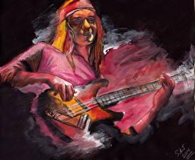 Картинки Мужчины Рисованные Гитара John Francis Pastorius