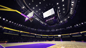 Картинка Баскетбол Потолок court Спорт