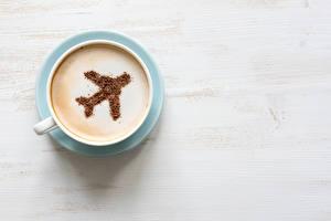 Обои Напитки Кофе Самолеты Капучино Чашка Еда фото