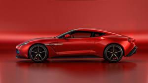 Обои для рабочего стола Lisa Kudrow Астон мартин Красный Zagato Vanquish Concept машина
