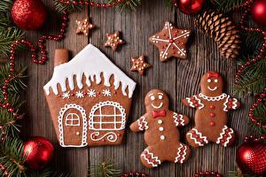 Картинки Новый год Печенье Дома