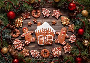 Фотография Новый год Печенье Здания