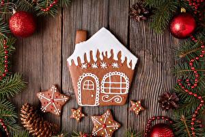 Картинки Новый год Здания Печенье