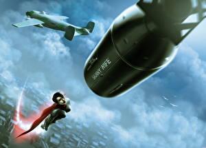 Фотография Самолеты Soviet Superwoman Плащ Девушки