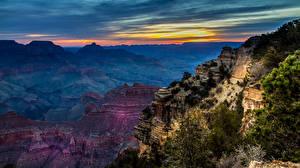 Обои США Парки Горы Рассветы и закаты Гранд-Каньон парк