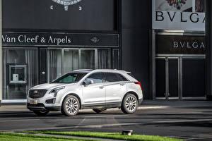 Обои Cadillac Белый Металлик 2016 XT5 Автомобили фото