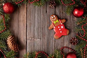 Картинка Новый год Печенье Шишки Шар