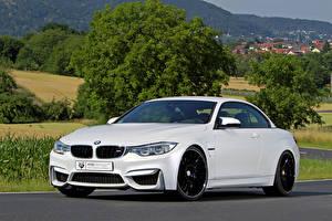 Фотографии BMW Белых 2015 mbDESIGN M4 F83 машина