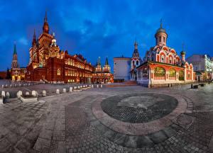 Обои Россия Москва Городская площадь Музей Red Square Kremlin Iberian Gate and Chapel Города фото