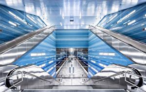 Картинка Германия Гамбург U-Bahn Überseequartier