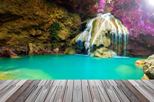 Обои Таиланд Тропики Водопады Природа фото