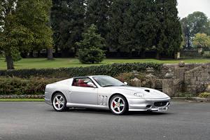 Картинки Ferrari Pininfarina Серебряный Кабриолета 2005-06 Superamerica with -Fiorano-Handling Package Worldwide Автомобили