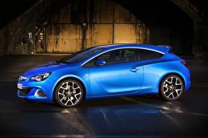 Обои Опель Синий Сбоку 2011 Astra OPC Авто