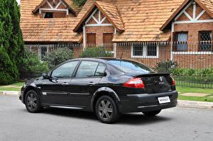 Картинка Renault Черных Металлик 2009 Megane Extreme Автомобили