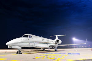 Фотография Самолеты Пассажирские Самолеты Ночь