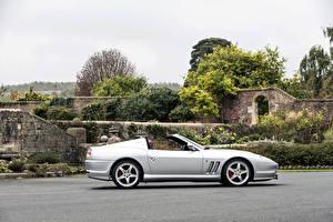 Обои Ferrari Pininfarina Серебристый Сбоку Кабриолет 2005-06 Superamerica with -Fiorano-Handling Package Worldwide Автомобили