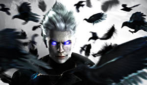 Обои Devil May Cry Вороны Взгляд Vergil, Capcom Игры 3D_Графика фото