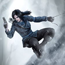 Картинки Rise of the Tomb Raider Лара Крофт Девушки