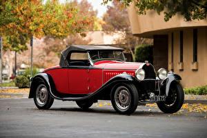 Фотография BUGATTI Ретро Красная Металлик Родстер 1931 Type 49 Roadster by Gangloff автомобиль