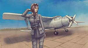 Фото Самолеты Рисованные Солдаты