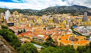 Картинки Монако Здания Гора