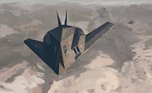Фотография Самолеты Рисованные Lockheed F-117 Nighthawk