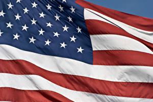 Фото Штаты Флаг Полосатый