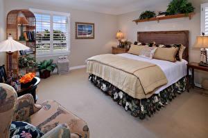Обои Интерьер Дизайн Спальня Кровать фото