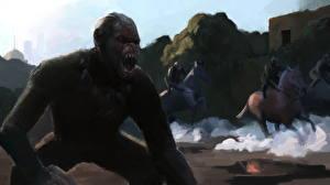Обои Обезьяны Рисованные Planet of the apes Фильмы фото