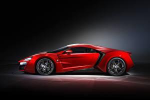 Фотографии Красный Сбоку Lykan HyperSport Авто
