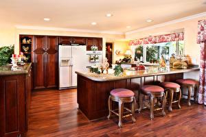 Обои Интерьер Дизайн Кухня Стол Стулья Потолок фото