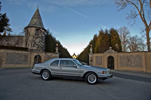 Картинка Lincoln Старинные Серый Сбоку 1984–92 Mark VII LSC Машины