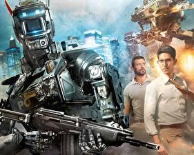 Обои Робот по имени Чаппи 2015 Hugh Jackman Мужчины Робот Фильмы Знаменитости фото