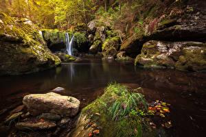 Фотография Водопады Камень Мох