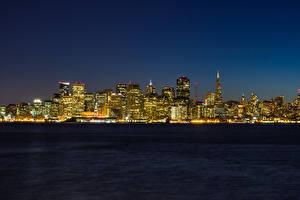 Фотографии Берег США Сан-Франциско Ночные