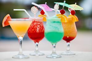 Фотографии Напитки Коктейль Бокалы Продукты питания