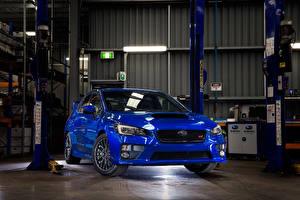 Картинка Subaru Синий WRX STI