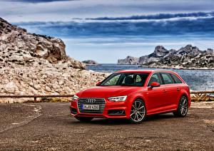 Фотографии Audi Красная Универсал A4 Avant quattro авто