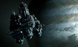 Картинки Корабли Alien: Isolation Игры 3D_Графика Космос