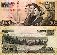 Обои Деньги Купюры 50 won North Korea (DPRK) фото