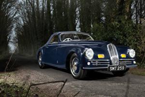 Фото Винтаж Pininfarina Синих Металлик 1947 Bristol 400 Cabriolet машина