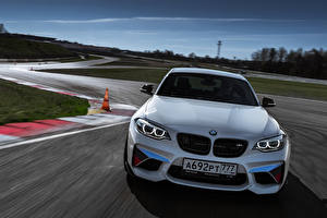 Картинка BMW Спереди Белый M2 F87 Coupe машина