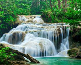 Фотография Таиланд Парки Водопады Erawan Waterfall Kanchanaburi