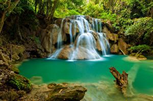 Обои Таиланд Водопады Природа фото