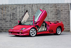 Обои Ламборгини Красный Родстер 1991999-2000 Diablo VT Roadster9-2000 Lamborghini Diablo VT Roadster Автомобили