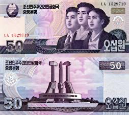 Фото Деньги Купюры 50 won North Korea (DPRK)