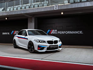 Картинки BMW Белая M2 F87 Coupe Автомобили