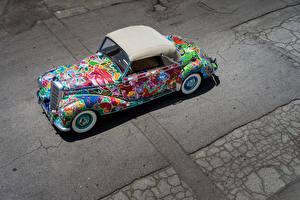 Обои Mercedes-Benz Стайлинг 220 Cabriolet A  Earthly Paradise  Art Car by Hiro Yamagata Авто